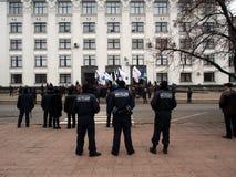Reunião da oposição em Lugansk Imagens de Stock Royalty Free