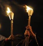 Reunião da tocha de Bhopal. imagem de stock