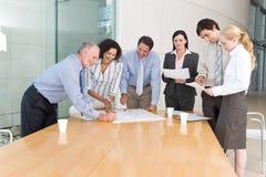 Reunião da unidade de negócio foto de stock royalty free