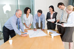 Reunião da unidade de negócio foto de stock