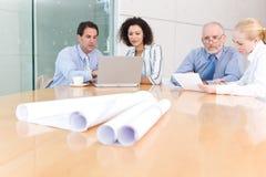 Reunião da unidade de negócio do arquiteto Fotos de Stock Royalty Free