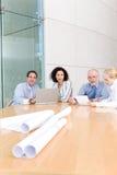 Reunião da unidade de negócio do arquiteto imagens de stock