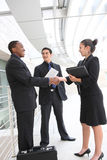 Reunião da unidade de negócio no escritório Imagens de Stock Royalty Free