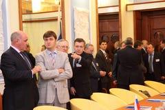 Reunião das cabeças de ministérios dos Negócios Estrangeiros Imagem de Stock Royalty Free
