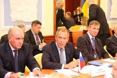 Reunião das cabeças de ministérios dos Negócios Estrangeiros Imagens de Stock