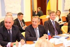 Reunião das cabeças de ministérios dos Negócios Estrangeiros Foto de Stock