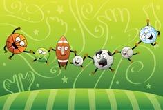 Reunião das esferas dos esportes ilustração stock