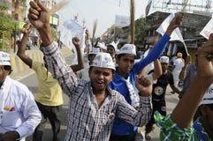Reunião de AAP em Varanasi Fotografia de Stock