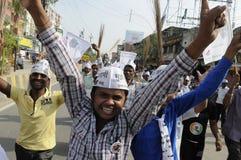 Reunião de AAP em Varanasi Imagens de Stock