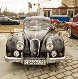 Reunião de carros clássicos, Moscovo Fotografia de Stock Royalty Free