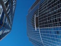 Reunião de dois edifícios imagem de stock