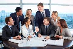 Reunião de funcionamento foto de stock royalty free