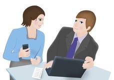Reunião de funcionamento Imagens de Stock