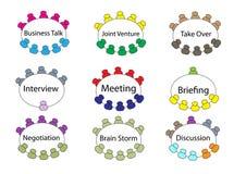 Reunião de mesa redonda do negócio Imagens de Stock