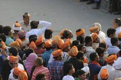 Reunião de Narendra Modi em BHU Foto de Stock Royalty Free
