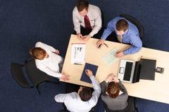 Reunião de negócio aérea   foto de stock