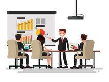Reunião de negócio Apresentação do projeto O homem fala antes ilustração royalty free