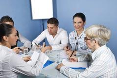 Reunião de negócio com trabalhadores Fotografia de Stock