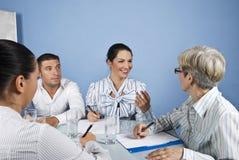 Reunião de negócio da equipe de funcionários Imagens de Stock Royalty Free