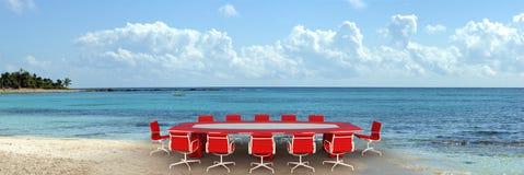 Reunião de negócio de refrescamento Fotos de Stock Royalty Free