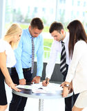 Reunião de negócio - gerente que discute o trabalho Fotos de Stock