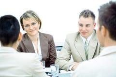 A reunião de negócio isolou-se Imagem de Stock