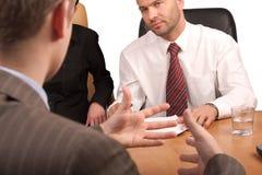 Reunião de negócio - langua do corpo Foto de Stock