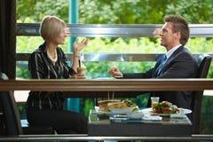 Reunião de negócio no café Imagens de Stock Royalty Free