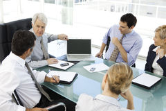 Reunião de negócios com CEO Foto de Stock Royalty Free