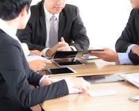 Reunião de negócios da tabela do conceito imagens de stock royalty free