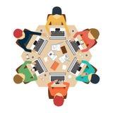 Reunião de negócios design1 Ilustração Royalty Free
