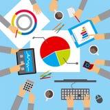 A reunião de negócios, discute o plano Imagens de Stock