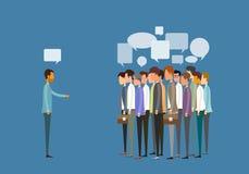 Reunião de negócios dos povos do grupo e conceito de uma comunicação empresarial ilustração royalty free