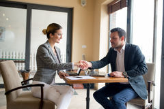Reunião de negócios, grande negócio Imagem de Stock Royalty Free