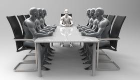 Reunião de negócios humana tridimensional ilustração royalty free