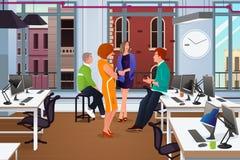 Reunião de negócios informal no escritório ilustração do vetor