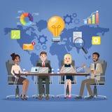 Reunião de negócios no conceito da sala de conferências ilustração royalty free