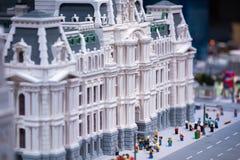 REUNIÃO DE PLYMOUTH, PA - 6 DE ABRIL: Grande inauguração do centro Philadelphfia da descoberta de Legoland, PA o 6 de abril de 20 fotografia de stock royalty free