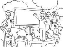 Reunião de relógio da vizinhança - preto e branco Foto de Stock