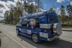 Reunião de Russe (países que se encontram) na fortaleza 2015 de Fredriksten (Russe-carro) fotos de stock royalty free