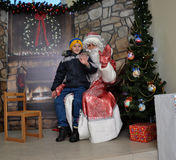Reunião de St_ Nicholas com children_9 Fotos de Stock Royalty Free