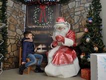 Reunião de St_ Nicholas com children_3 Imagem de Stock