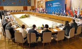 35a reunião do Conselho de Ministros dos Negócios Estrangeiros da organização do Estado-membro de cooperação econômica do Mar Neg Fotos de Stock Royalty Free