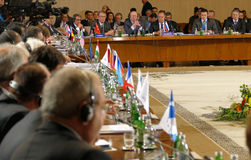 35a reunião do Conselho de Ministros dos Negócios Estrangeiros da organização do Estado-membro de cooperação econômica do Mar Neg Foto de Stock