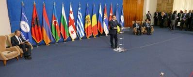 35a reunião do Conselho de Ministros dos Negócios Estrangeiros da organização do Estado-membro de cooperação econômica do Mar Neg Fotografia de Stock Royalty Free