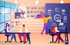 Reunião do desenhista do Web site e do colaborador dos programadores ilustração royalty free