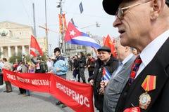 Reunião do dia de maio em Moscovo Foto de Stock