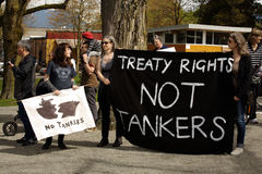 Reunião do dia de terra de Vancôver,   Imagens de Stock Royalty Free