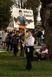 A reunião do dia de terra de Vancôver, quem é responsável? Foto de Stock Royalty Free