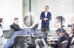 Reunião do escritório da equipe da empresa Foto de Stock Royalty Free